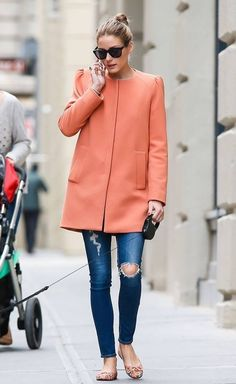 Olivia Palermo Wearing Colourful Coat