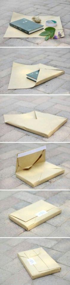 Как упаковать книгу в подарок.
