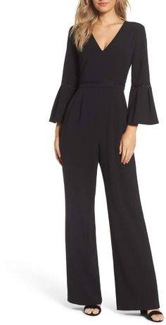d35cfdd0c7e Eliza J Bell Sleeve Jumpsuit Jumpsuit With Sleeves