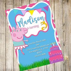 Llama Birthday, 5th Birthday, Birthday Ideas, Hip Hop Party, Bear Theme, Holiday Sales, Christmas Printables, Peppa Pig, Sell On Etsy