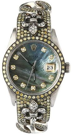 Gorgeous vintage Rolex watch iced by Loree Rodkin i'll take two