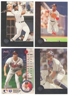 1996 LEAF - ATLANTA BRAVES Team Set by LEAF. $4.50. 1996 LEAF - BRAVES  1 John Smoltz  28 Chipper Jones  33 Fred McGriff  47 Marquis Grissom  60 David Justice  87 Tom Glavine  119 Javy Lopez  137 Steve Avery  144 Terrell Wade  176 Ryan Klesko  192 Greg Maddux  213 Jason Schmidt  ** You will receive the cards listed in the description ** ** Picture are stock photos to show an example of what the cards look like. ** I have the largest selection of Baseball Card Team Sets on the I...