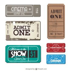 Tickets Template Free Vector  Ticket Template Free Ticket