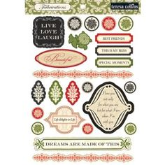 Teresa Collins Designs - Fabrications Linen - Linen Die Cuts  65# Double Sided Cardstock