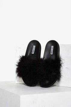 0b6f992a3a76 Fair Feather Friend Slide Sandal - Black Black Friday Shoes