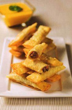 Tequeños de Lomo Saltado (4 PORCIONES) Recetas similares Sui MAi de Cerdo y Pollo (4 PORCIONES) Quesadillas de Pollo (4 PORCIONES) Pizzetas de Chorizo y Salame (4 PORCIONES) Dos Cepas