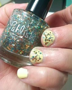 Base: Cult Nails - New Day Topper: Pahlish - Blankets on the Beach