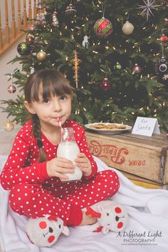 Milk and Cookies Photo Session- Christmas Eve, Waiting for Santa