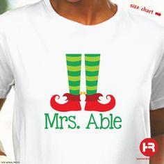 Personalized Christmas Elf Shirt - Christmas Shirt - Personalized Teacher Gift