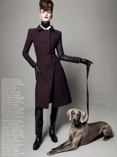 """Best in Show"": Dogs and Models by Daniel Jackson for UK Vogue"