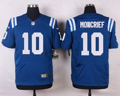 Elite Indianapolis Colts #10 MONCRIEF Royal Blue Nike NFL Jersey