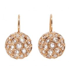 Sidney Garber Honeycomb Earrings found on Polyvore