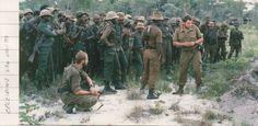 Training UNITA troops.