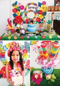 Tropical Oasis Hawaiian Luau Birthday Party!