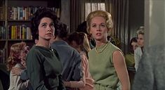 Suzanne Pleshette and Tippi Hedren at the school...