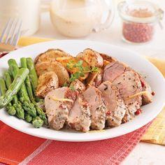 Filets de porc, sauce moutarde et poivre rose - Recettes - Cuisine et nutrition - Pratico Pratique