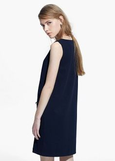 Zipped shift dress