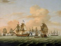 of Lagos Between Gibraltar and Lagos, Portugal British victory Seven Years' War.Thomas Defeat of the French squadron of La Clue in front of the English squadron of lord Boscawen. Marine Royale, Marine Francaise, Etat Major, Portugal, Seven Years' War, Black Authors, Naval History, Museum, Navy Ships