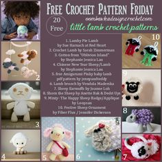Cuddly and cute these little lambs are sure to warm your heart! 20 free little lamb crochet patterns to choose from!