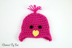 Free Crochet Pattern: Preemie Chick Hat  Different size Preemie hats, other Preemie hat patterns too
