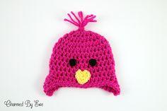 Free Crochet Pattern: Preemie Chick Hat  Different size Preemie hats, other Preemie hat patterns too