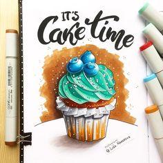 Time for sweets Ну что ж, друзья, сегодня завершается мистический марафон. В полночь мы закроем приём работ и в понедельник объявим победителя, так что следите за новостями ;) А на картинке капкейк от @cake.time, сладкого спонсора #sketchfest_2016 . Обожаю голубику ;) Участники, а вам какие достались?)