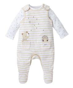 Little Bear Dungaree Set - dungaree sets - Mothercare