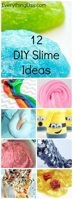 Have you joined in on the DIY slime craze yet? They really are very creative and fun! These slime recipes are great for kids of all ages, so pick a couple of the ideas and make them this afternoon…More Craft Activities For Kids, Easy Crafts, Diy And Crafts, Craft Projects, Easy Diy, Crafts For Kids, Sensory Activities, Cool Crafts, Craft Ideas