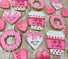 Valentines Baking, Valentines Day Desserts, Valentine Cookies, Birthday Cookies, Valentine Gifts, Valentine's Day Sugar Cookies, Heart Cookies, Royal Icing Decorated Cookies, Wedding Cake Cookies
