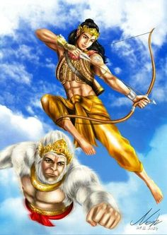Hanuman and Lord Ram Lord Sri Rama, Hanuman Chalisa, Hanuman Tattoo, Lord Hanuman Wallpapers, Lord Shiva Painting, Shiva Shakti, Krishna Art, God Pictures, Hindu Art