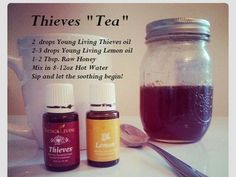 Great for colds and sore throats! Young Living Essential Oils… b… Thieves tea. Great for colds and sore throats! Young Living Essential Oils… balancedwomensblo… Thieves tea essential oilStop a runny nose with ThHomemade cough syrup for Essential Oils For Colds, Thieves Essential Oil, Essential Oil Uses, Natural Essential Oils, Oils For Sore Throat, Young Living Essential Oil For Sore Throat, Essential Oil Sore Throat, Young Living Essential Oils Recipes Cold, Strep Throat