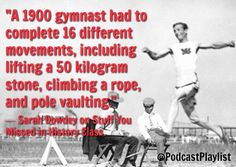 Quote about the early days of the Olympics.