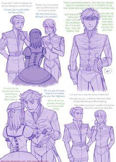 ML Cinderella AU jealous Prince Adrien by Piku-chan