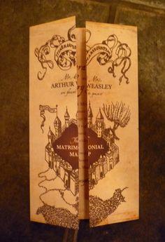 Marauder's Map Invitations (set of 50). $100.00, via Etsy.