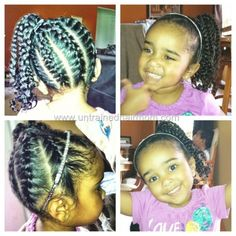 Braided Hairstyles For Little Mixed Girls   Hairstyles Collection With Mixed Girl Braids