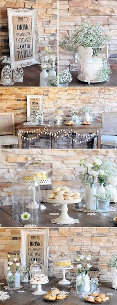 Bird Cage Table Babies Breath Ideas For 2019 Candy Bar Vintage, Vintage Party, Rustic Candy Bar, Diy Wedding, Rustic Wedding, Dream Wedding, Wedding Desserts, Wedding Decorations, Deco Buffet