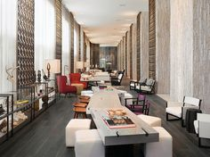 Glamorous And Contemporary Interiors At W South Beach Miami Hotel