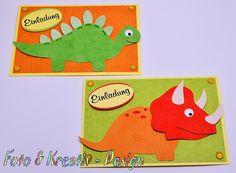 Dino - Einladung - Set / 2Stk. von Foto&Kreativ-Design auf DaWanda.com