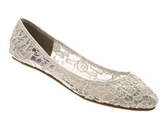 38aae8c58467 Lora Dora Womens Low Heel Ivory Lace Ballerina Ballet Pumps Flat Bridal  Bridesmaid Prom Shoes Ladies Size UK 5  Amazon.co.uk  Shoes   Bags