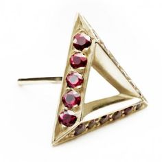 Triangle ear stud 'Triange Stud Pave' by Hannah Martin