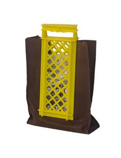 Lucas en Lucas, Crate Case Plastic Crates, Recycling, Yellow, Bag, Handmade, Leather, Design, Hand Made