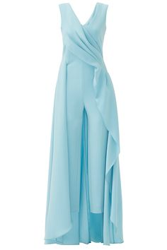 Light Blue Petal Jumpsuit by Escada for $400 | Rent the Runway