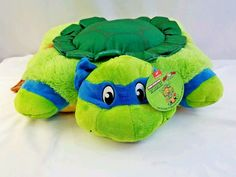 "Pillow Pets Teenage Mutant Ninja Turtles Leonardo Plush Toy 18"" New with Tag #PillowPet #TMNT"