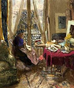 Edouard Vuillard, Madame Vuillard on a Snowy Day on ArtStack #edouard-vuillard #art
