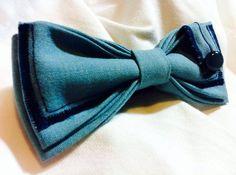 PAPILLON Turchese con Passante e Bottone Tie Men di Idillyum