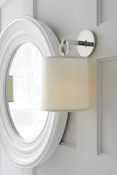 Guest Bath: French Cuff Sconce by Barbara Barry | BBL2035 | available in four finishes with silk shade