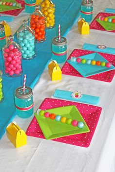 Bright and happy place setting