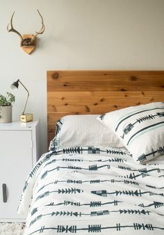 Arrows block printed cotton sheets and duvet set by Hokoda | Bohem