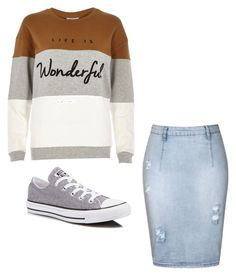 """""""Casual Apostolic-Pentecostal"""" by jezebelmejia on Polyvore featuring Ally Fashion, River Island and Converse"""