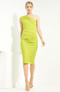 Michael Kors one shoulder jersey dress